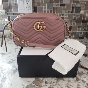 Authentic Gucci purse GG Marmont small matelassé